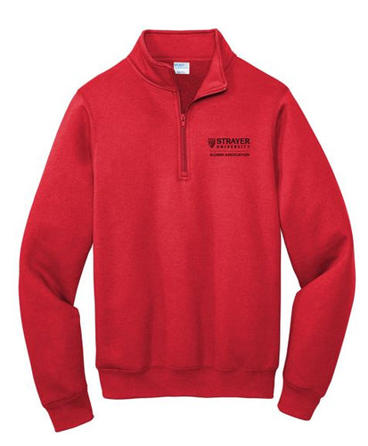 Port & Company ® Core Fleece 1/4-Zip Pullover Sweatshirt - Red