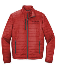 Port Authority ® Packable Puffy Jacket - Fire Red/ Graphite