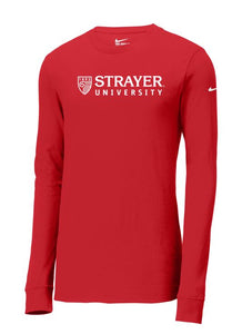 Nike Core Cotton Long Sleeve Tee GYM RED