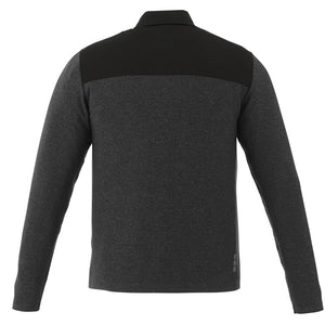 MBA CHEDDAR - Men's Knit Jacket - Black Smoke Heather/Blk Smoke