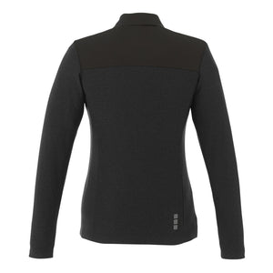 MBA CHEDDAR - Ladies Knit Jacket - Black Smoke Heather/Blk Smoke