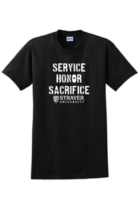 Service Honor Sacrifice - Ultra Cotton 100% Cotton T-Shirt - Black