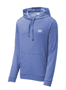 SEI - Sport-Tek PosiCharge Tri-Blend Wicking Fleece Hooded Pullover - True Royal Heather