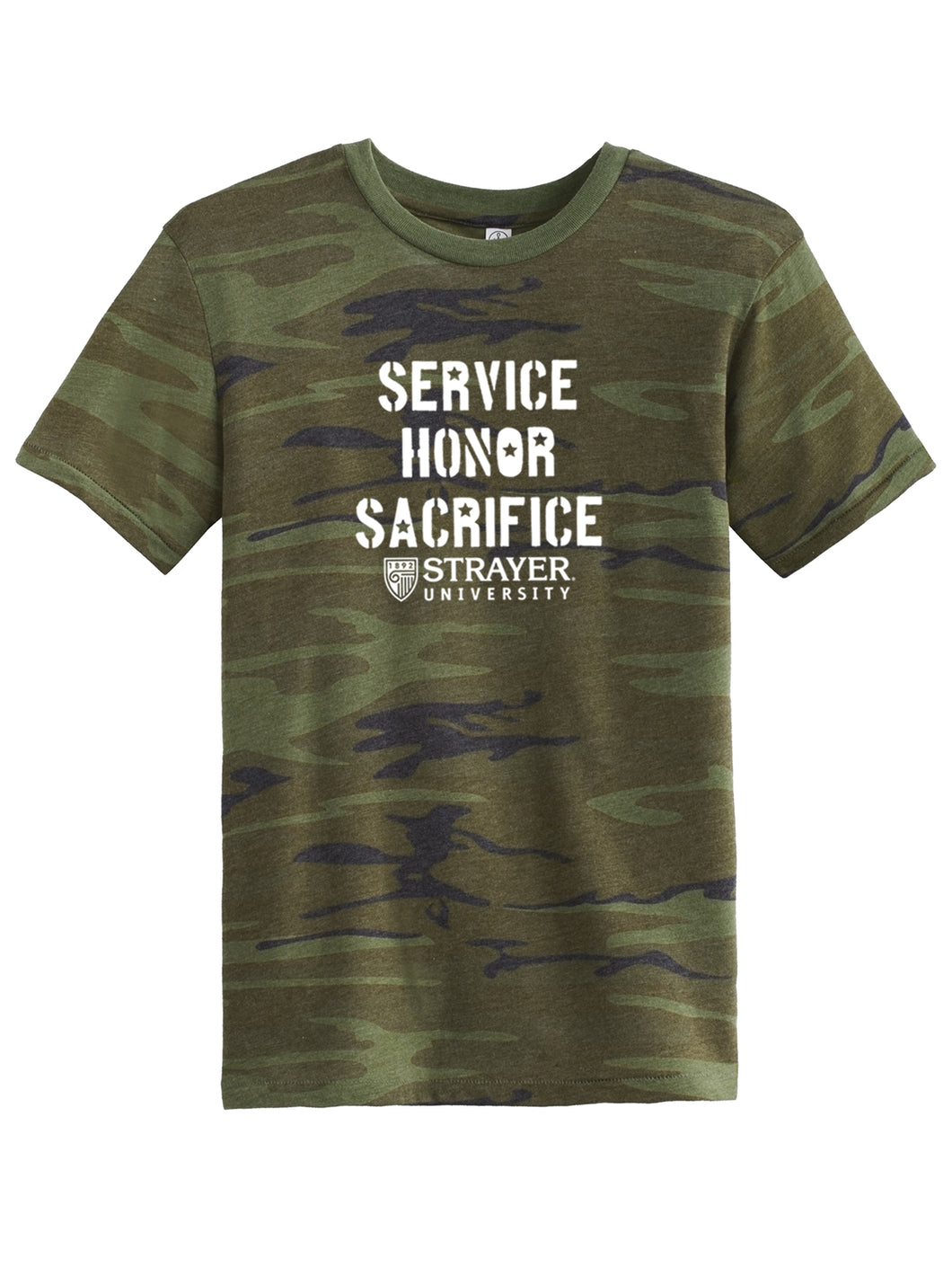 Service Honor Sacrifice - Alternative Eco-Jersey Crew T-Shirt - Camo