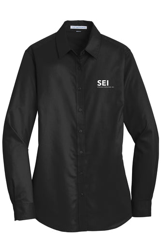 SEI - Port Authority Ladies SuperPro Twill Shirt - Black