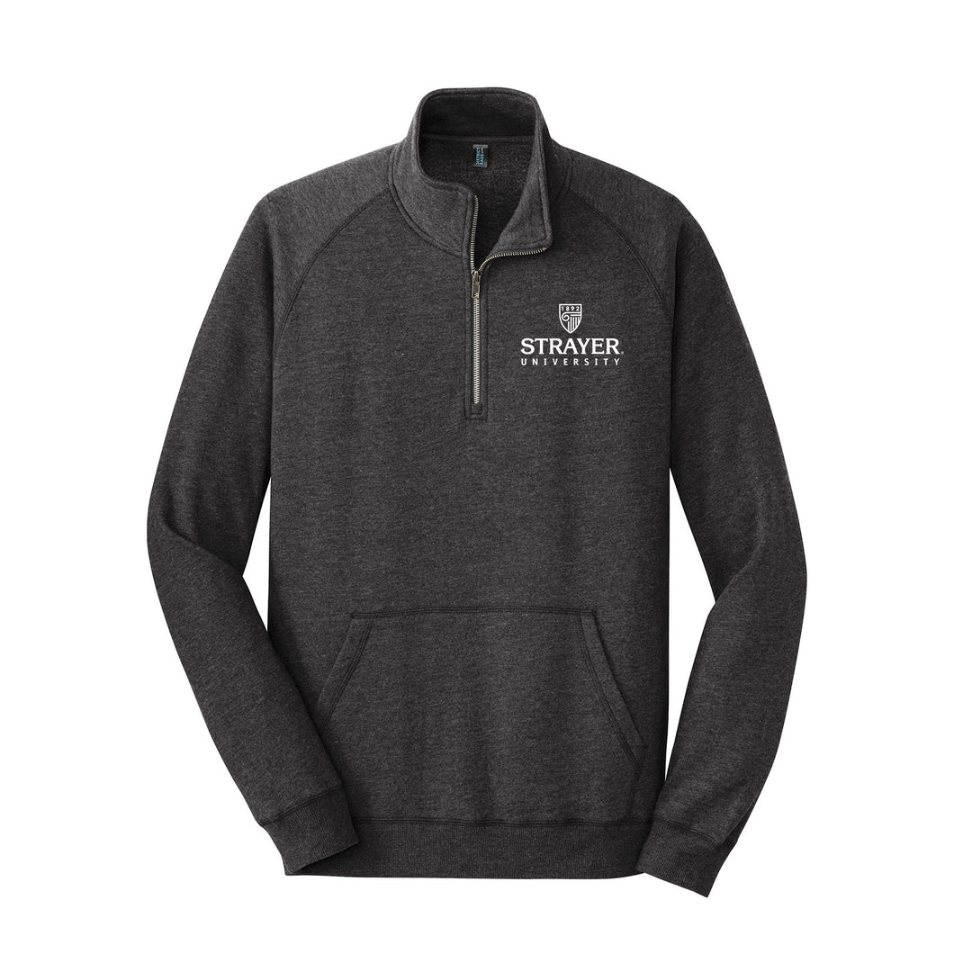 District Made® Mens Lightweight Fleece 1/4-Zip Charcoal
