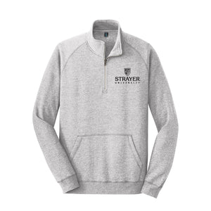 District Made® Mens Lightweight Fleece 1/4-Zip Gray