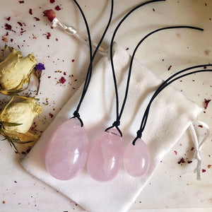 Rose Quartz Yoni Egg Set