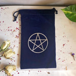 Velvet Pentagram Drawstring Bag