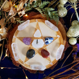 Elemental Balance Pentagram Crystal Grid Set