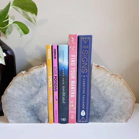 Book Ends - Agate - White