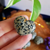 Dalmatian Jasper Polished Heart