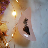 Rose Quartz Moon Trinket Bowl #2