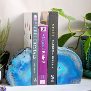 Book Ends - Agate - Blue