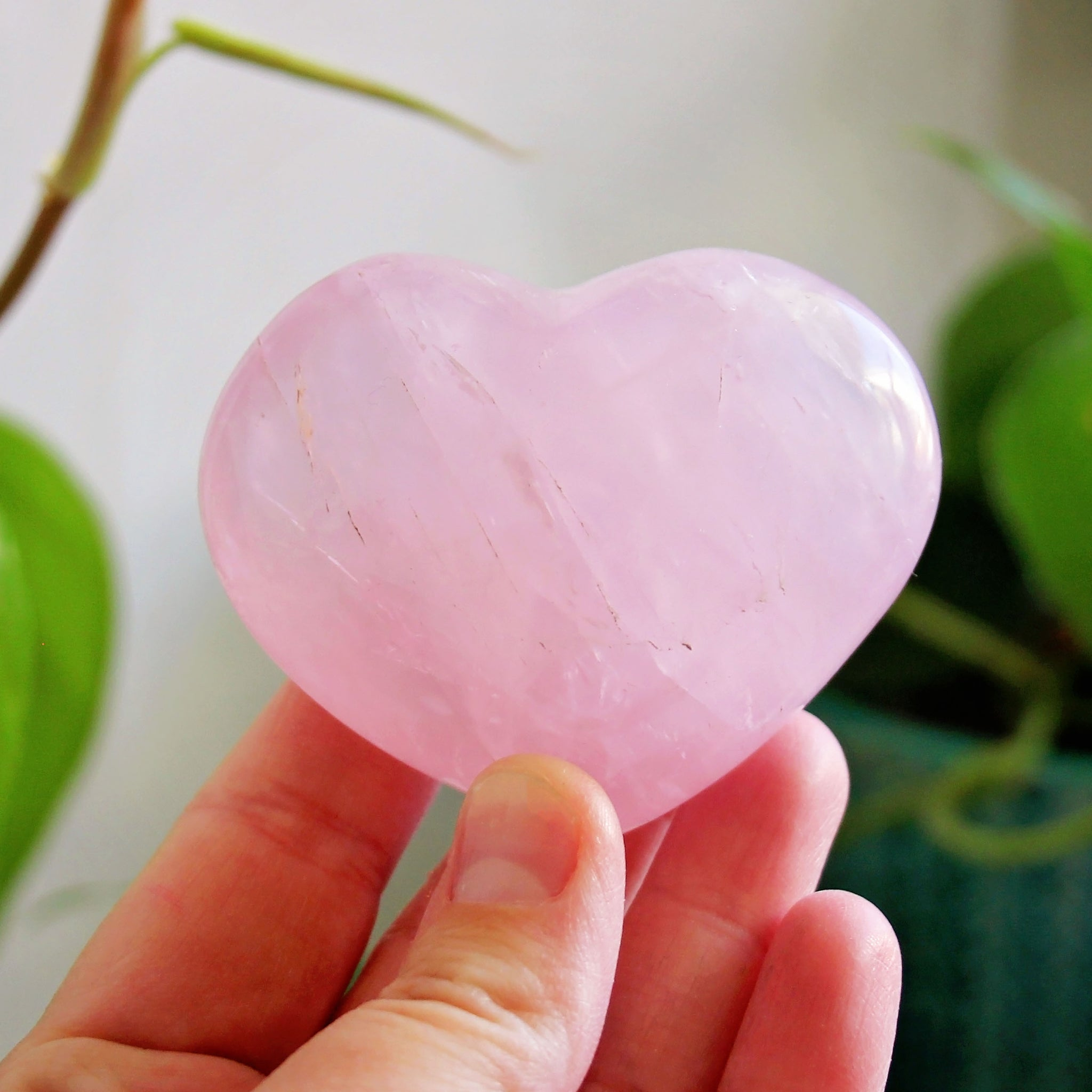 Rose Quartz Polished Heart - #3