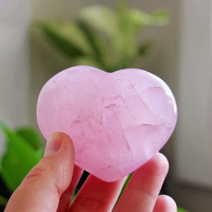 Rose Quartz Polished Heart - #5