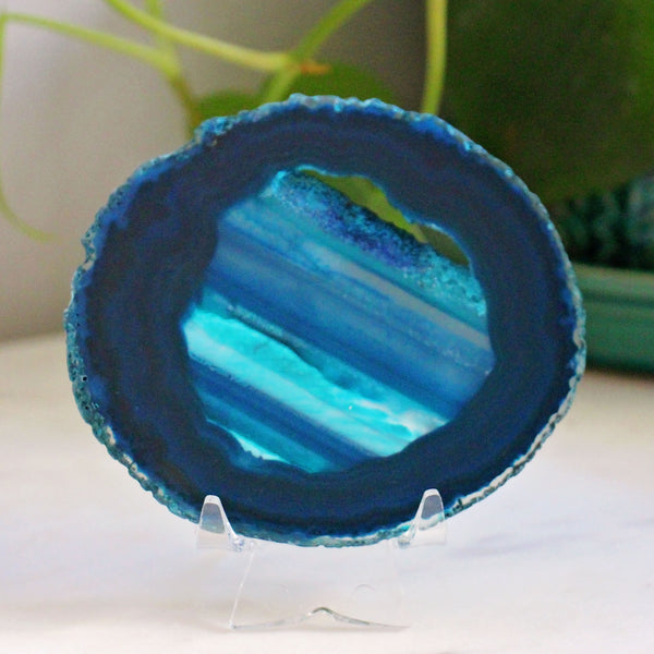Agate Slice - Medium - Blue