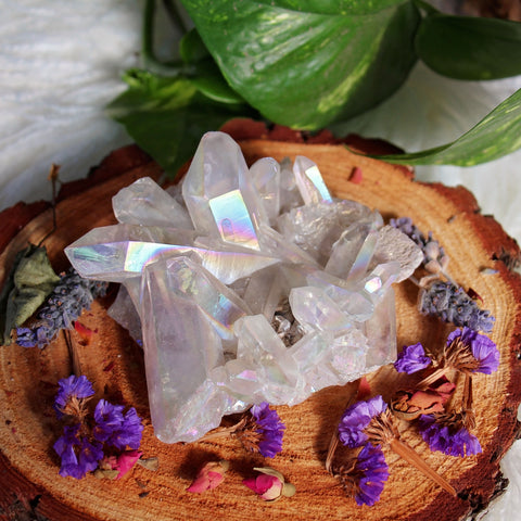 Angel Aura Quartz Cluster - #2