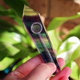 Rainbow Fluorite Crystal Pipe