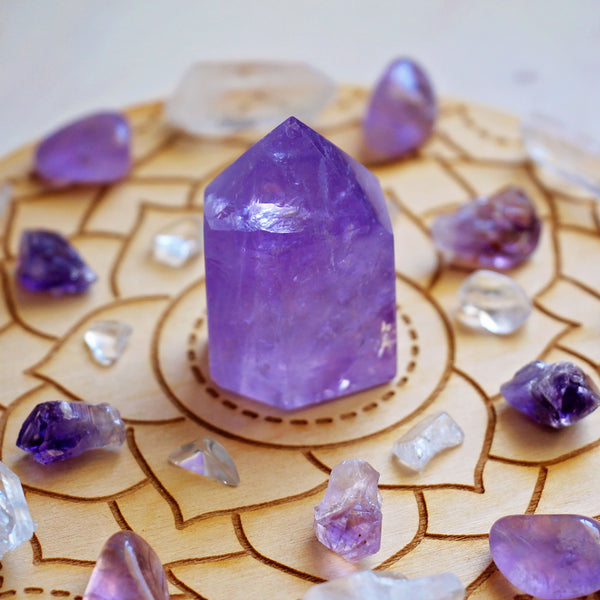 Crown Chakra Crystal Grid Set