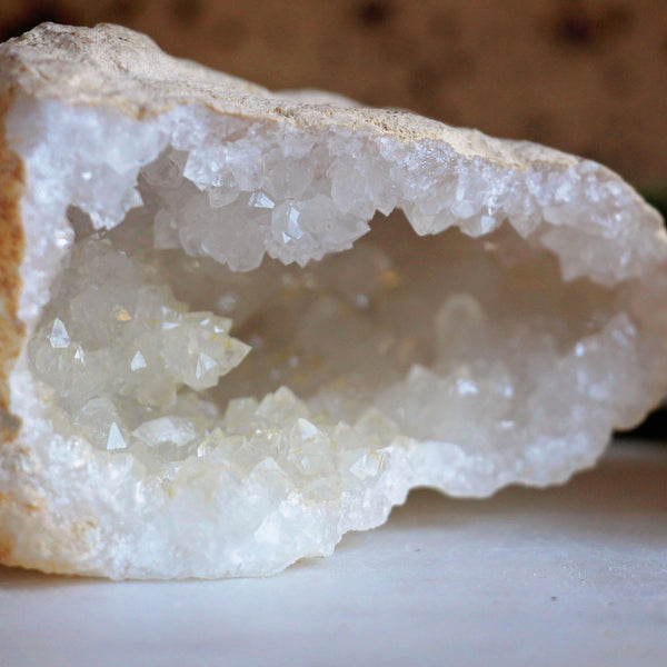 Clear Quartz Geode Pair - Large