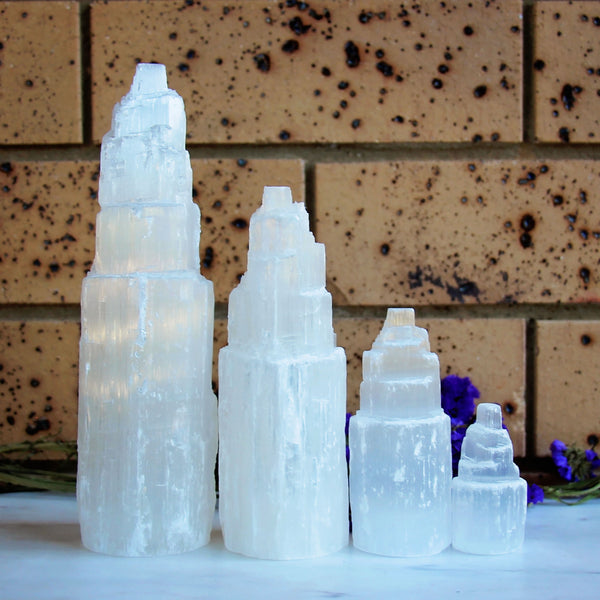 Selenite Tower - Large