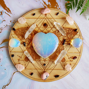 Matters Of The Heart Crystal Grid Set