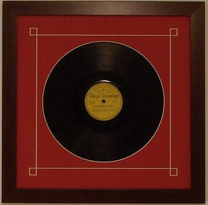 "10"" Vinyl Frame with Mat - Frame My Collection"
