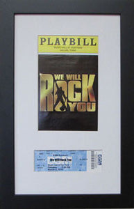 Playbill Frame with Ticket - Frame My Collection