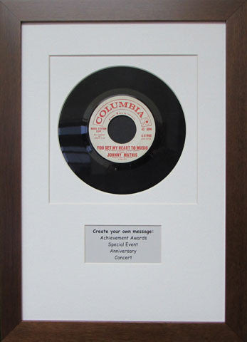 7 Quot 45 Vinyl Record Frame With Personalized Message Frame