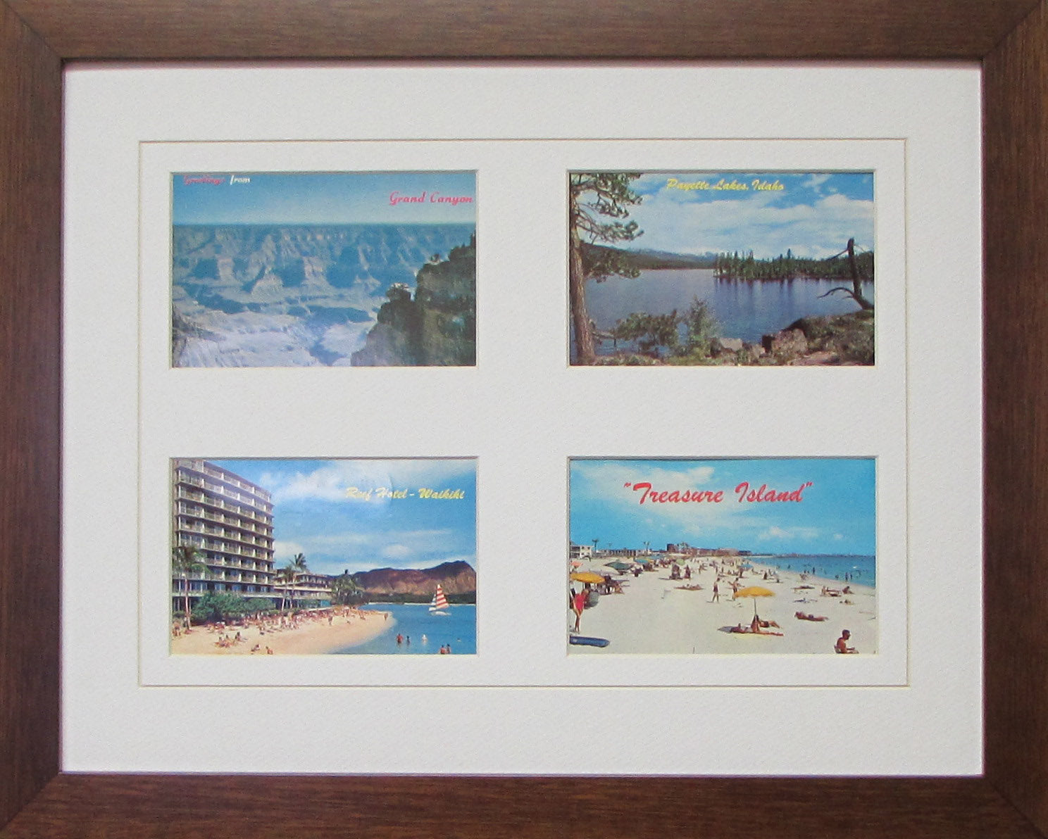 Four Postcards Frame – Frame My Collection