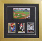 Trading Card Frame with Photo that holds three sports cards. - Frame My Collection