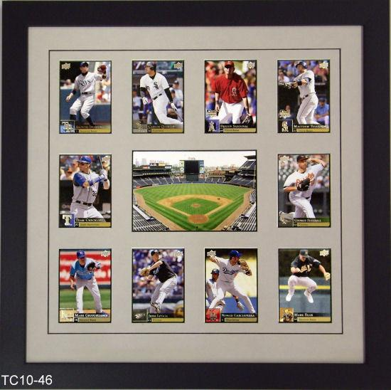 Ten Trading Card Frame with Photo - Frame My Collection