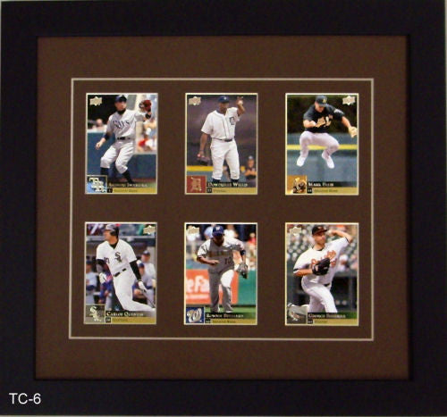 Six Trading Card Frame - Frame My Collection