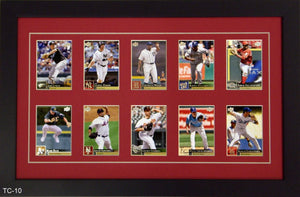 Ten Trading Card Frame - Frame My Collection