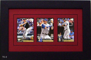 Three Trading Card Frame - Frame My Collection
