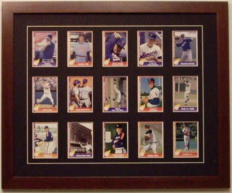 Fifteen Trading Card Frame - Frame My Collection