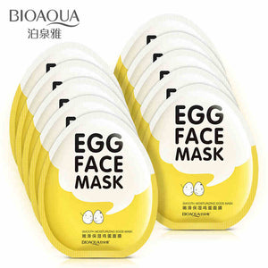 Egg Facial Masks Oil Control Brighten Wrapped Mask Tender Moisturizing Face Mask