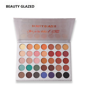 BEAUTY GLAZED Natural Matte Shimmer Natural Palette Luminous Long-lasting Matte Eyeshadow Shimmer 35 Colors