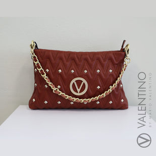 Quilted Leather Handbag w/ Chain Strap