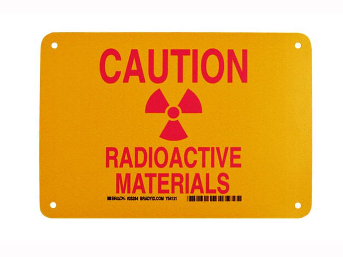 Radioactive Materials Caution Sign - NukeTrain - Radiation Safety Training