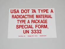 Type A Label - NukeTrain - Radiation Safety Training
