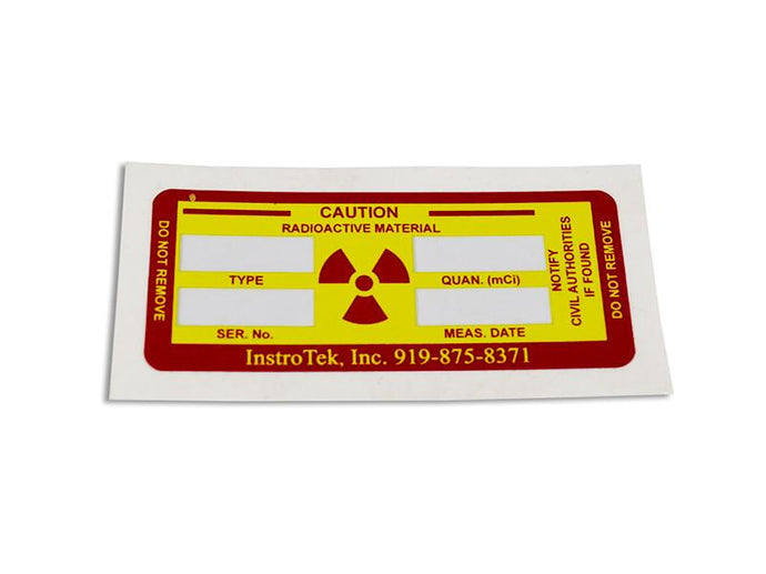 Source Rod Label - NukeTrain - Radiation Safety Training
