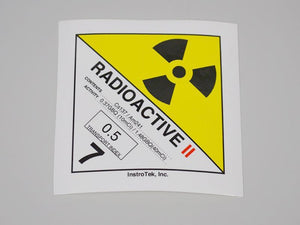 Yellow II Transport Label - NukeTrain - Radiation Safety Training