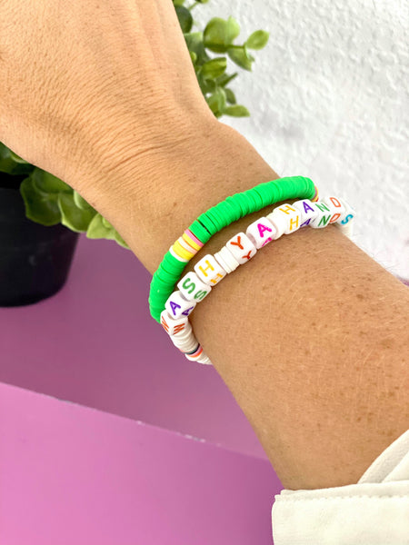 Boujie Bee Worded Beaded Bracelet