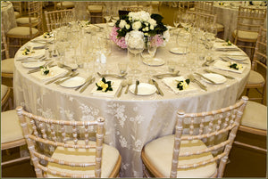 Wedding Reception Table Linens in Utah