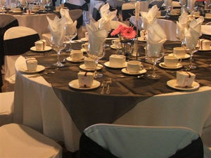 table overlays rentals for the wedding in Utah