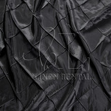 "Black 4"" Pintuck Taffeta Table Overlays"