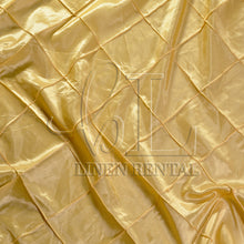 "Buttercup 4"" Pintuck Taffeta Table Overlays"