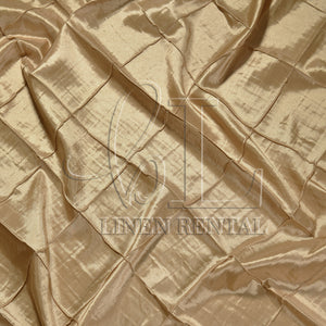 "Champagne 4"" Pintuck Taffeta Table Linen"